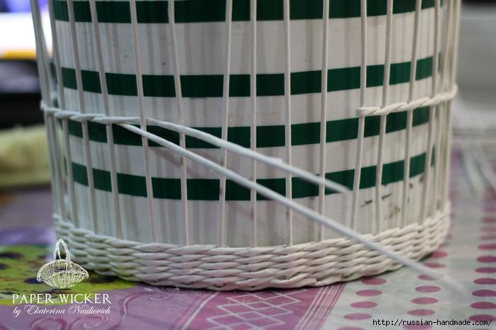 Плетение из газет. Клетка для птички (11) (700x466, 219Kb)