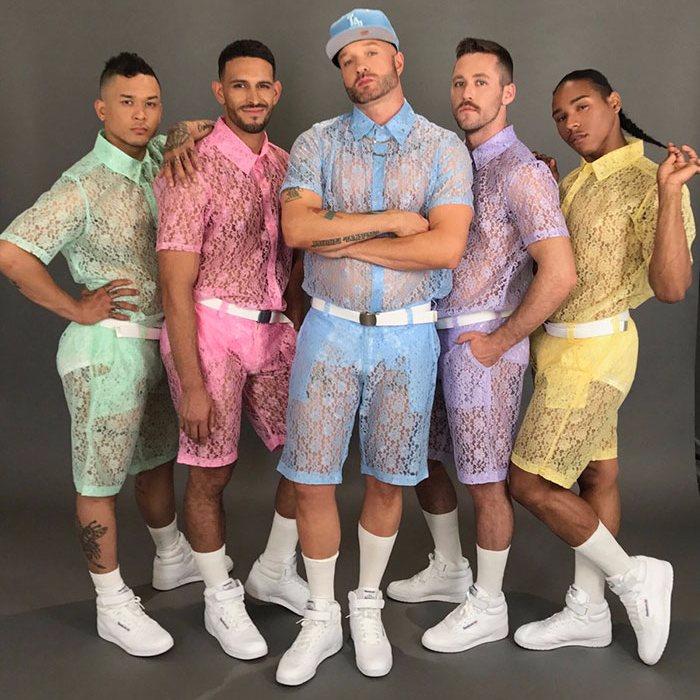 кружевные мужские шорты Hologram City 1 (700x700, 406Kb)