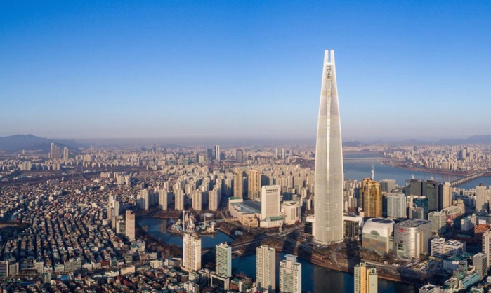 небоскреб Lotte World Tower в сеуле 1 (700x418, 288Kb)