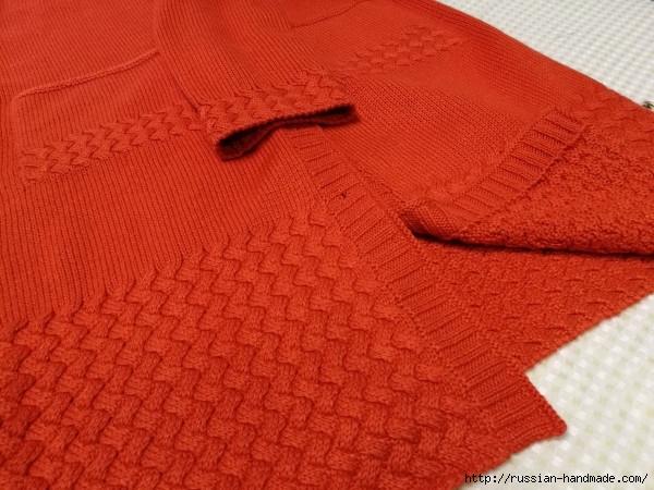 Очень красивое длинное пальто спицами (3) (600x450, 206Kb)