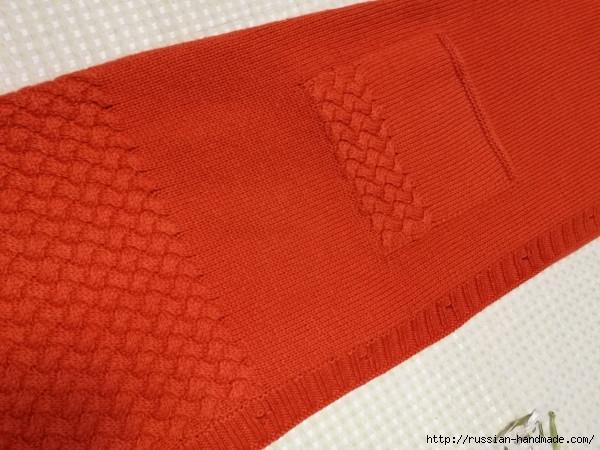 Очень красивое длинное пальто спицами (5) (600x450, 183Kb)