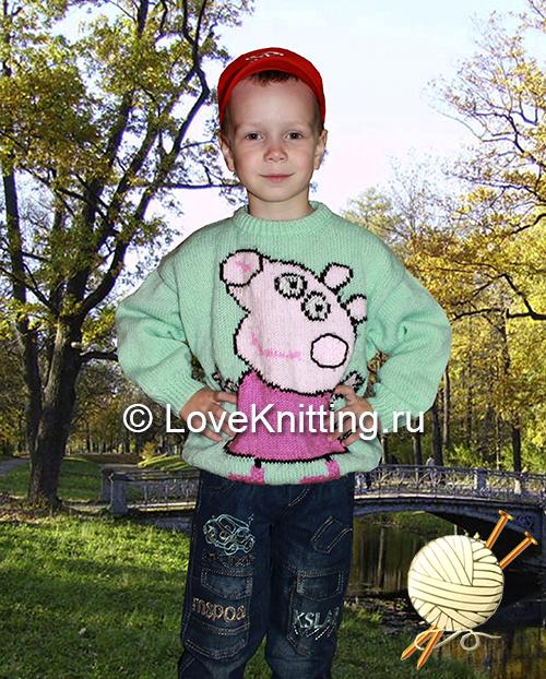 10 Автор Пуловер с рисунком МТ2 (500x622, 434Kb)