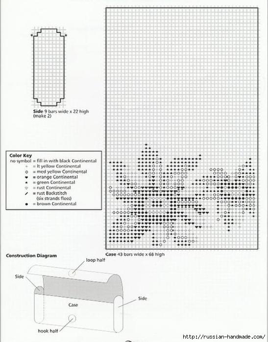 Очечники из пластиковой канвы с вышивкой (12) (547x700, 223Kb)
