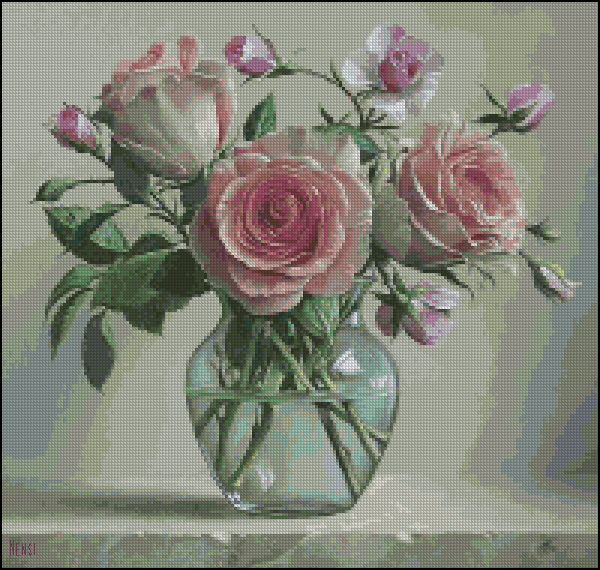 Розы в вазе_А (600x570, 530Kb)
