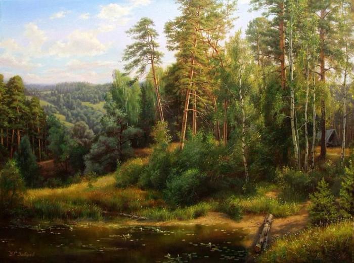 Художник Виталий Зайцев. Лесные пейзажи