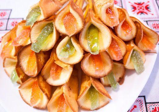 Печенье каллы на сковороде