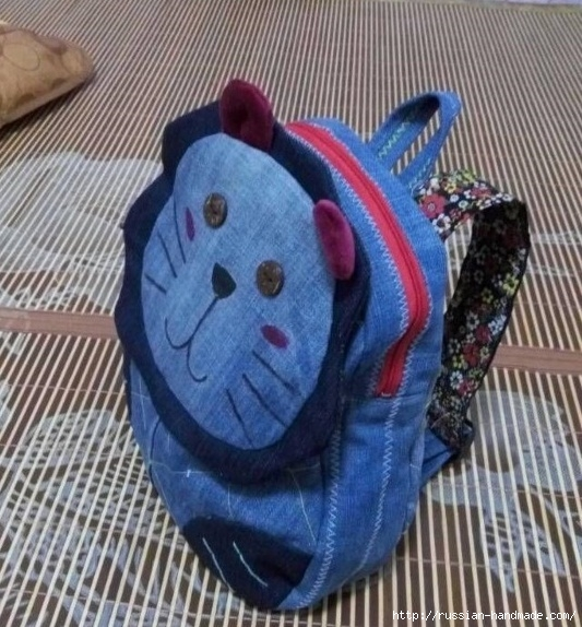 Шитье детского рюкзака из старых джинсов (8) (533x574, 232Kb)