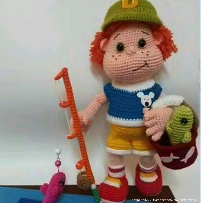 кукла ребенок крючком схема и описание