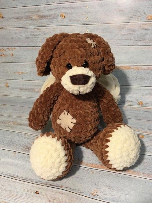 Плюшевый щенок от Анны Шетик.