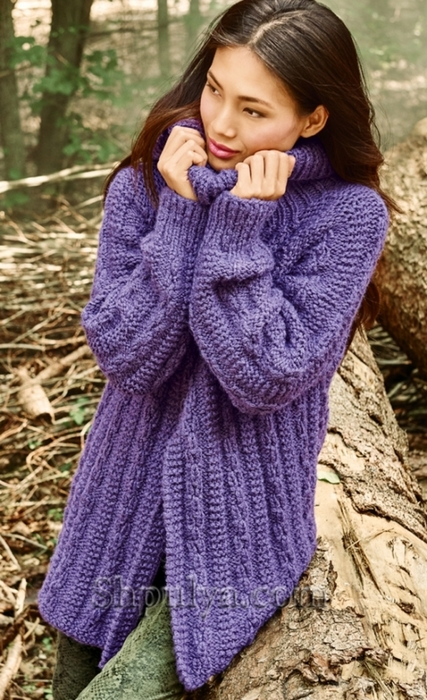 Роскошный свитер с рельефным узором