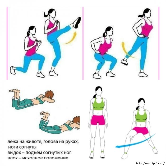 Простые упражнения для внутренней поверхности