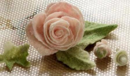 Цветы валянием из шерсти, мастер класс
