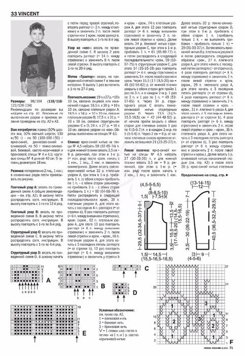Журнал верена вязание спицами 2 2018 со схемами 61
