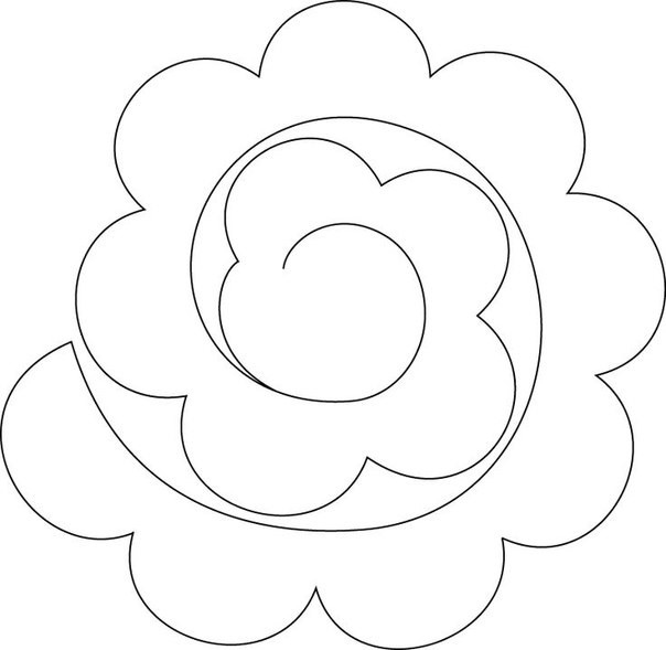 Розы из фетра своими руками схемы шаблоны 48