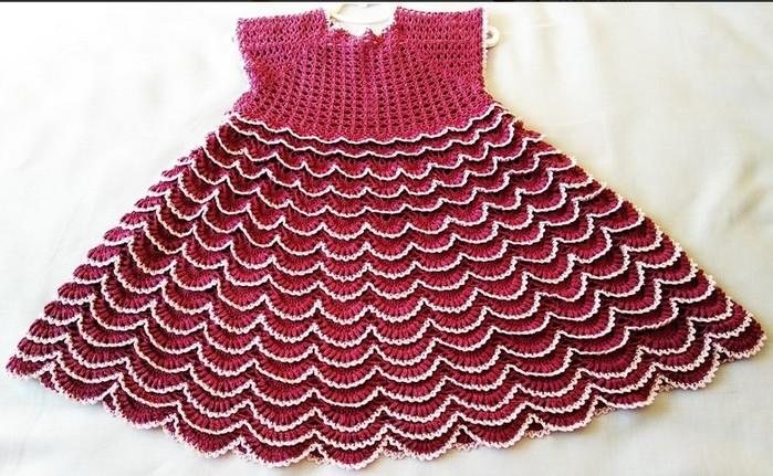 Платье «малинка» на девочку 5-6 лет