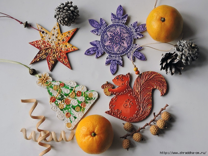 Сhristmas tree decorations, set of 10 toys, ShraddhaArt (4) (700x524, 308Kb)