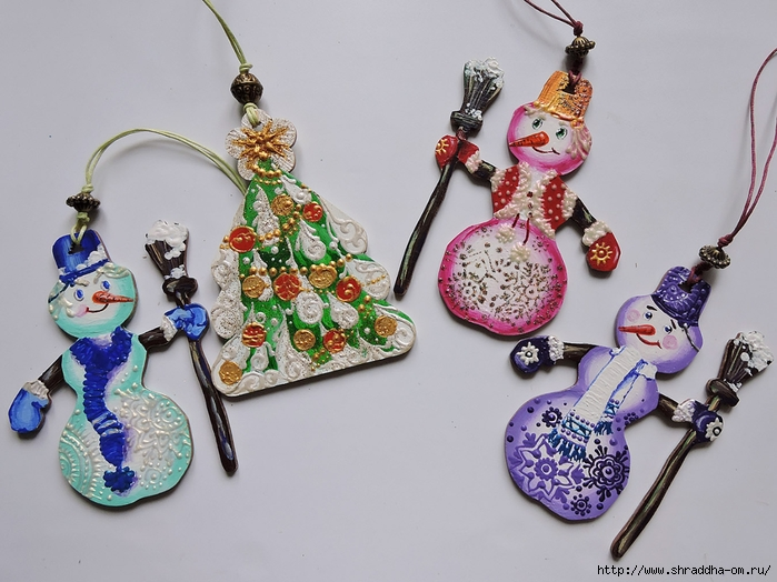 Сhristmas tree decorations, set of 10 toys, ShraddhaArt (2) (700x524, 263Kb)