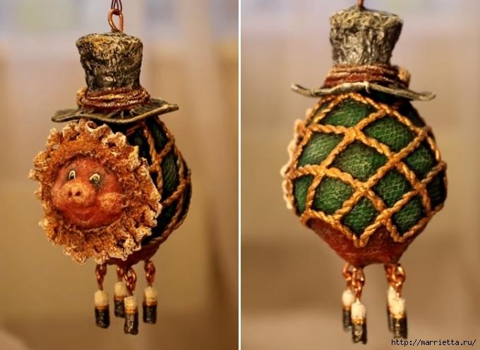 Свинка из лампочки. Новогодняя елочная игрушка handmade (1) (680x495, 174Kb)