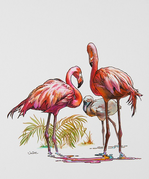flamingo-family (500x600, 95Kb)