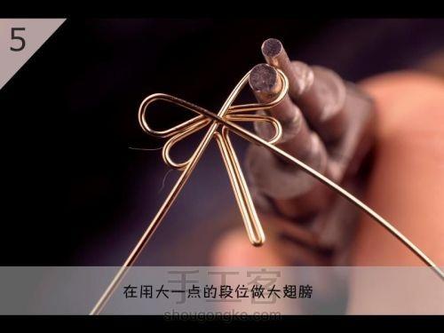 Бабочка из проволоки для подвески своими руками (6) (500x375, 81Kb)