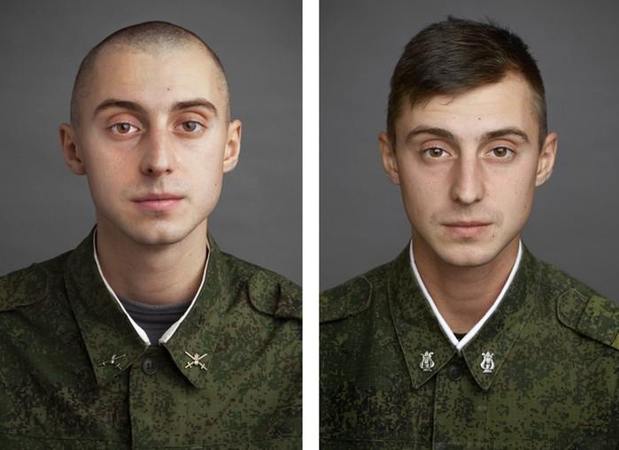 Фотографии российских парней после службы в армии: сравнение