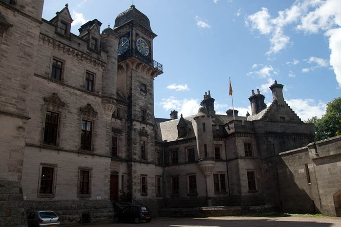 Удивительный Данробин, средневековый замок в Шотландии