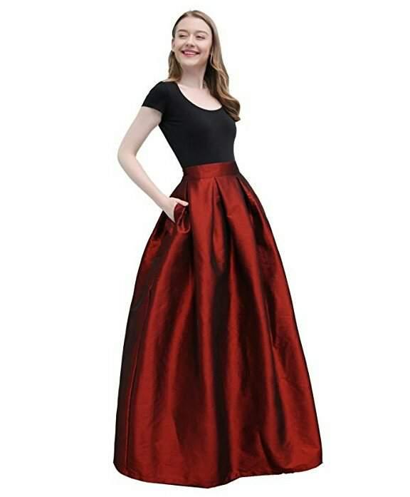 Длинная юбка со складками. Выкройки на размеры 36-56