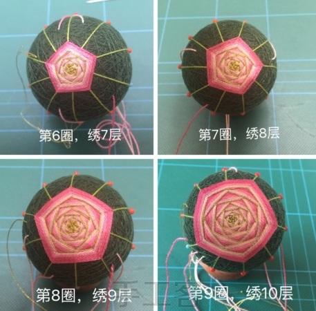 Японский шар темари с розой (8) (457x450, 184Kb)