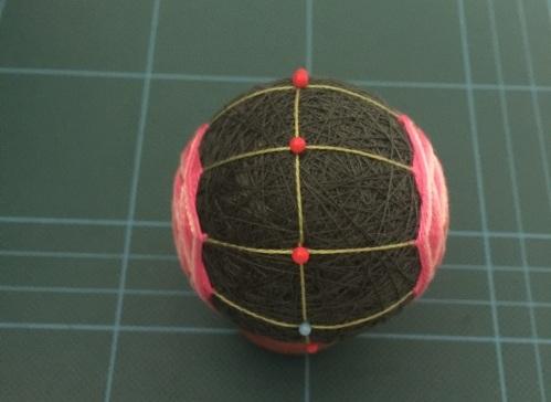 Японский шар темари с розой (12) (499x364, 102Kb)