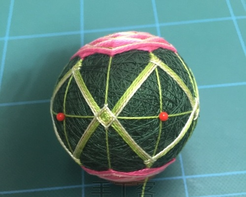 Японский шар темари с розой (14) (499x401, 140Kb)
