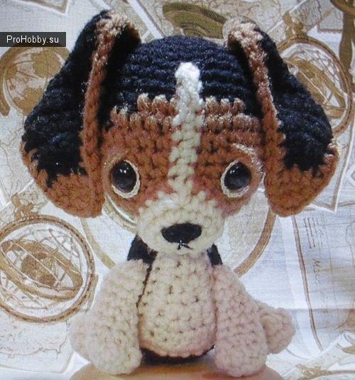 Крошка щенок, вязаный крючком