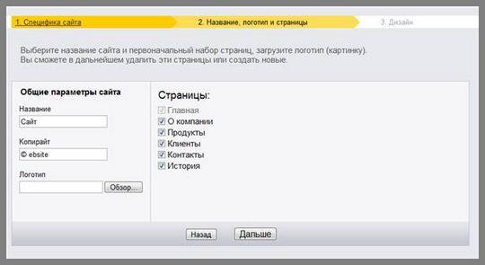 Как прикрепить свой домен для сайта на Яндекс.Народе. Коротко о создании сайта в Конструкторе