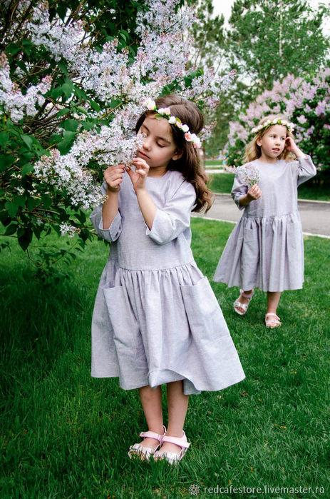 Как сшить детское платье из натурального льна. Мастер-класс