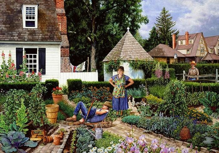 Позитивная американская художница иллюстратор Сьюзан Брабо