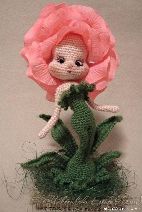 Куколка «Розочка» крючком. Описание вязания (13) (469x700, 247Kb)