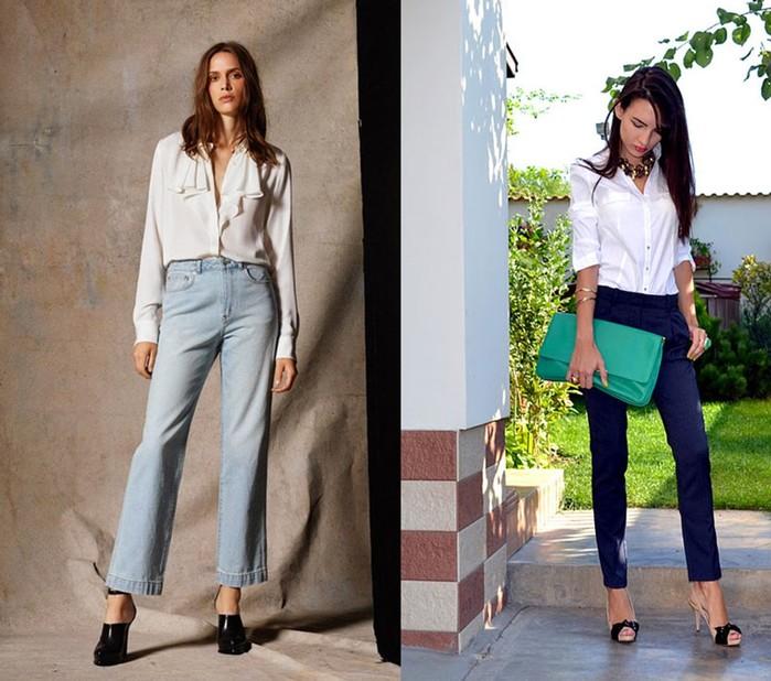 Как стильно носить укороченные джинсы