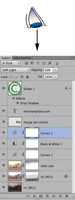 Как работают слои в Photoshop