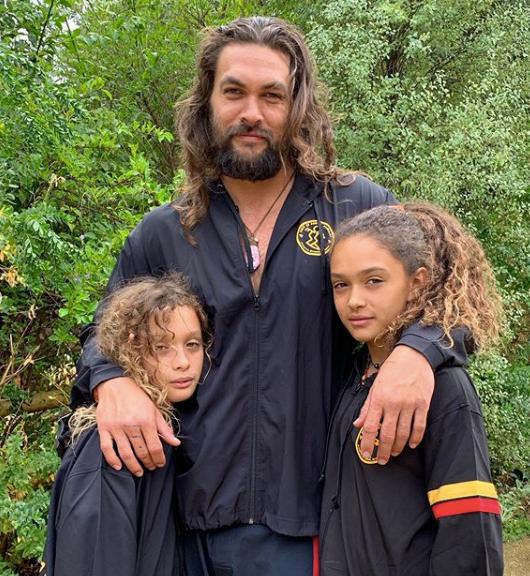 Джейсон Момоа, со своими детьми