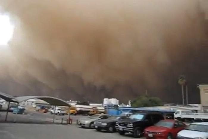 Песчаная буря в Кувейте