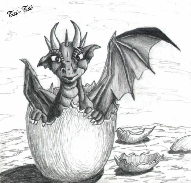 Рисунки новогодних дракончиков
