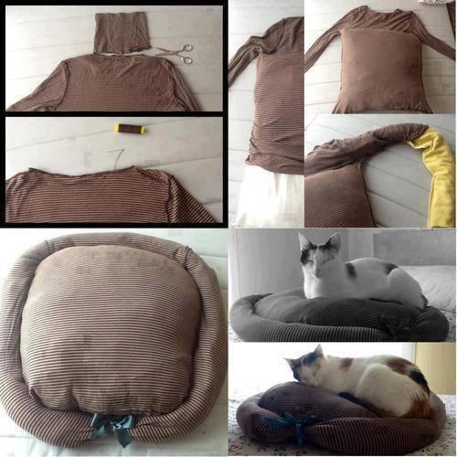 Как сшить подушку лежанку для кошек 52