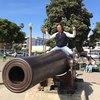 [+] Увеличить - Прохор Шаляпин на пляже Санта-Моника