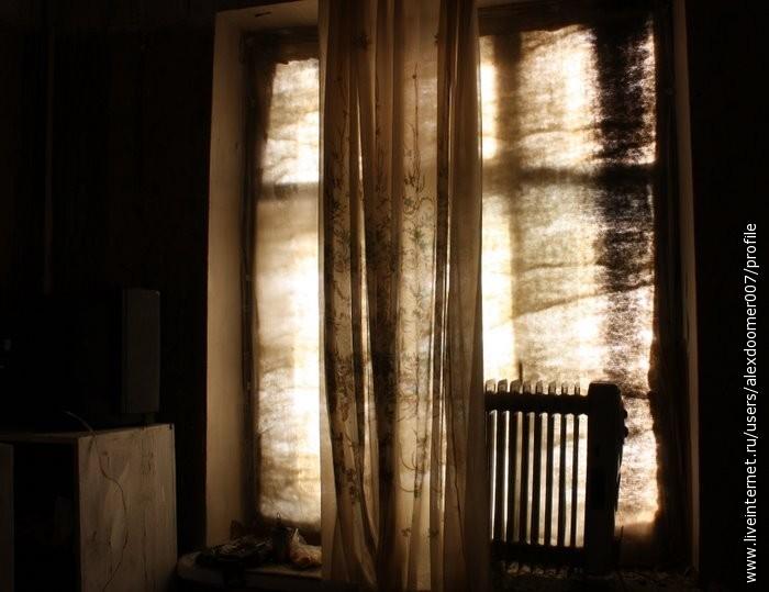 6.Через окно пытался пробиться теплый свет, но увы, холод не пропускал его...