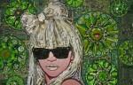Jason Mecier представила мозаику Lady Gaga, сделанную из старья.