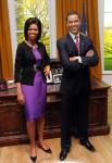 Восковые фигуры президента США Барака Обамы и его жены Мишель в Музее мадам Тюссо в Лондоне.