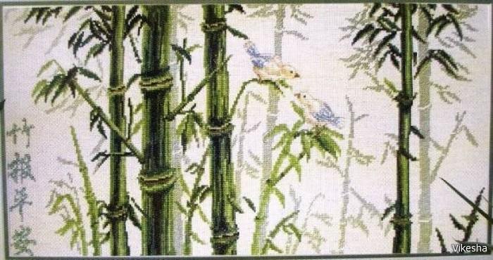 бамбук вышивка.