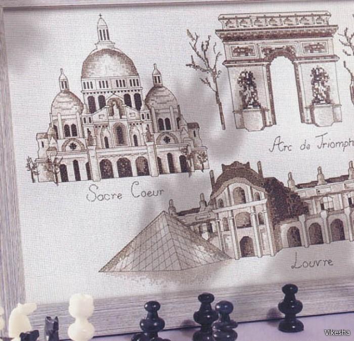 Вышивки крестом архитектура