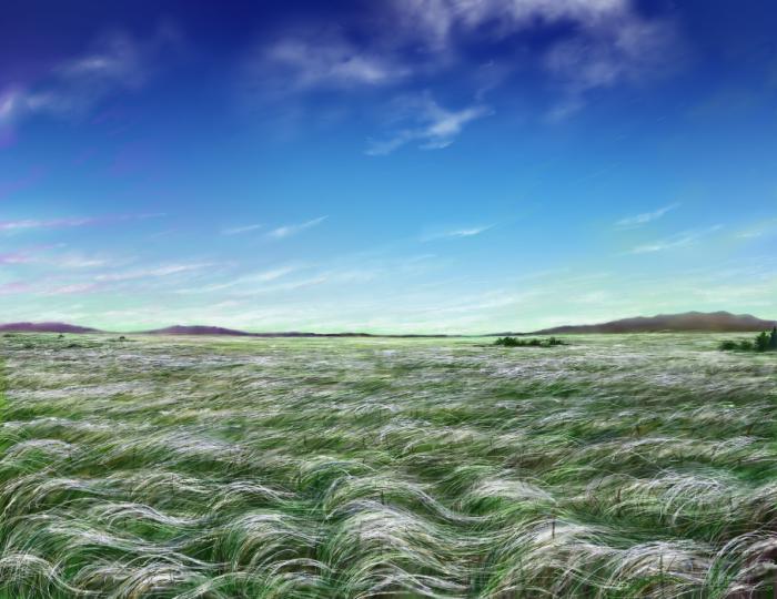 Степь. Нарисовано для пейзажного челленджа(художественный марафон - рисунок за 3 дня)