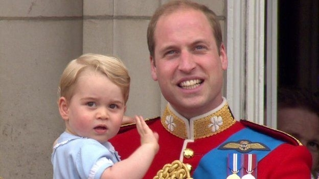 "BBC royal correspondent Nicholas Witchell said there was no doubt Prince George's first appearance on the balcony was the ""headline image"" of the day."