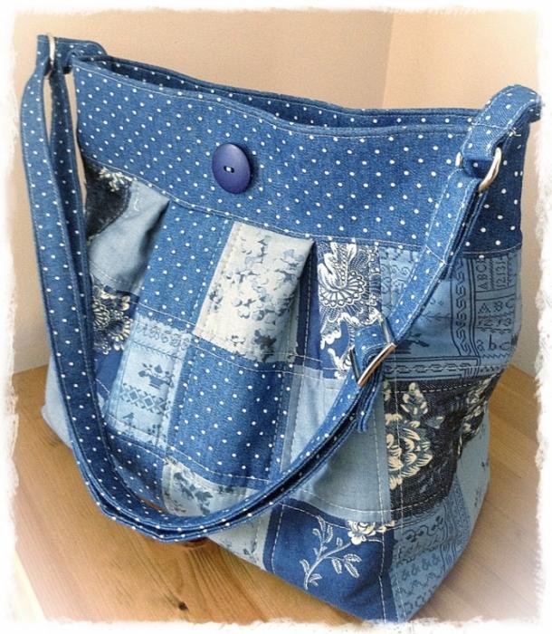 Сшить пляжную сумку в стиле пэчворк 3
